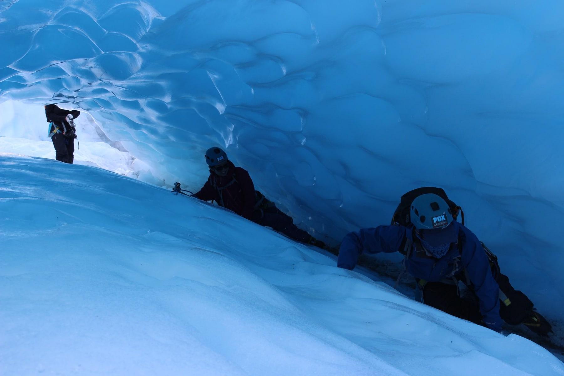 Eistunnel Gletschertour Neuseeland