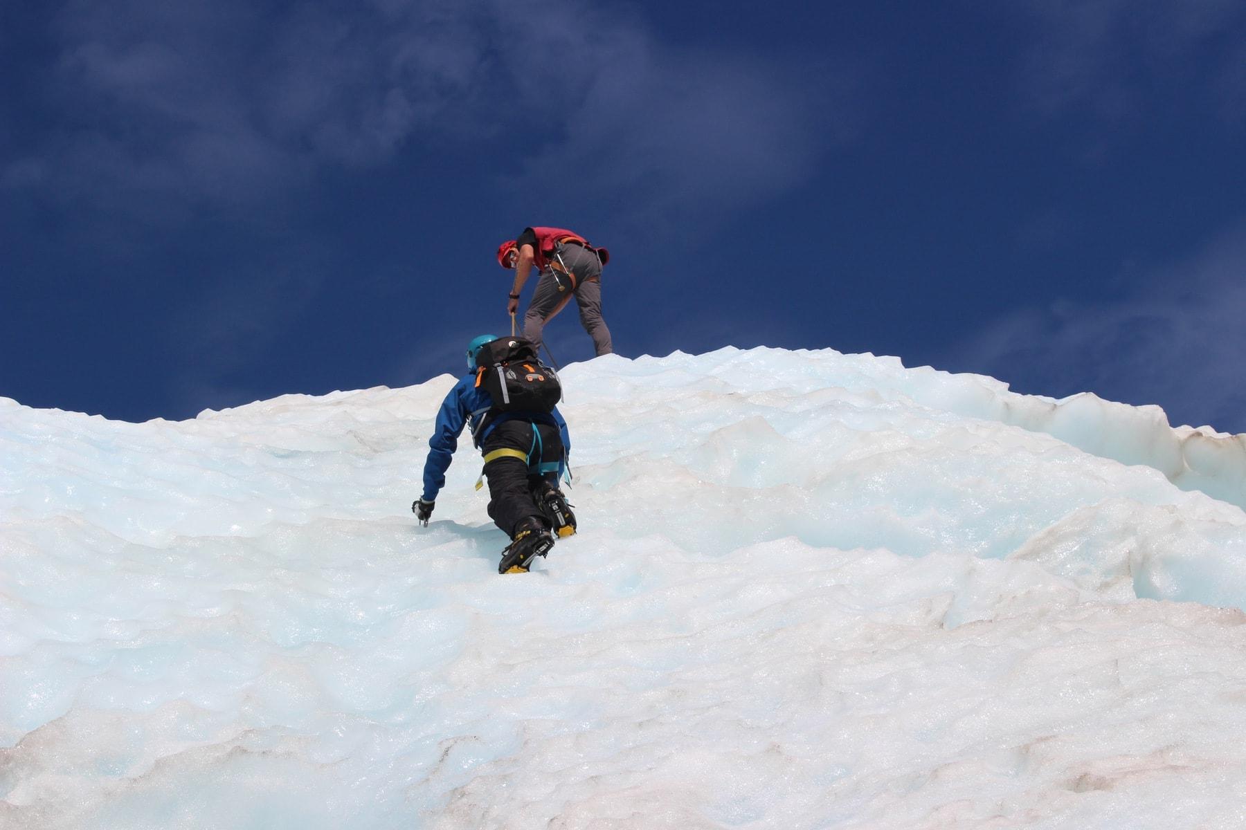 Klettern Gletschertour Neuseeland