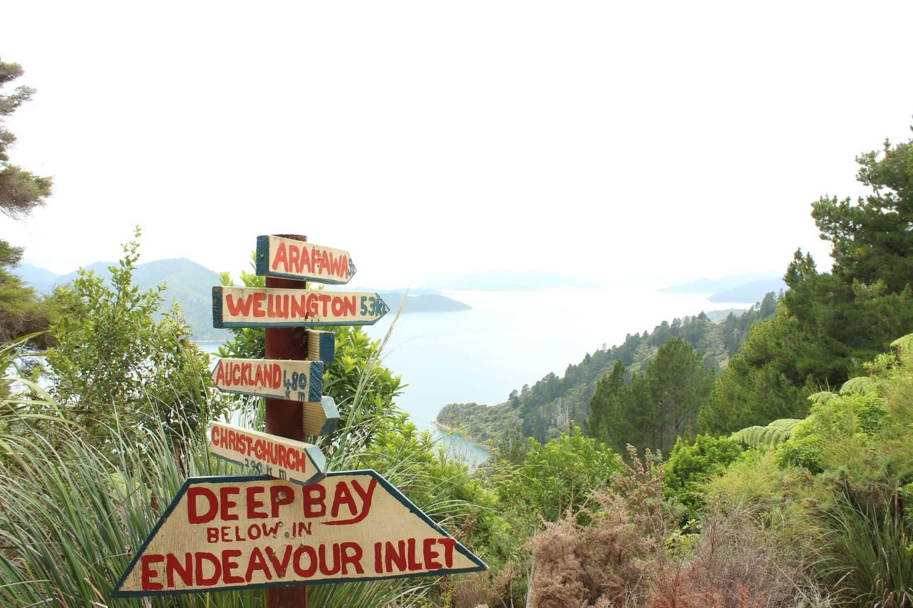 Schild Te Araroa Neuseeland Fernwanderung