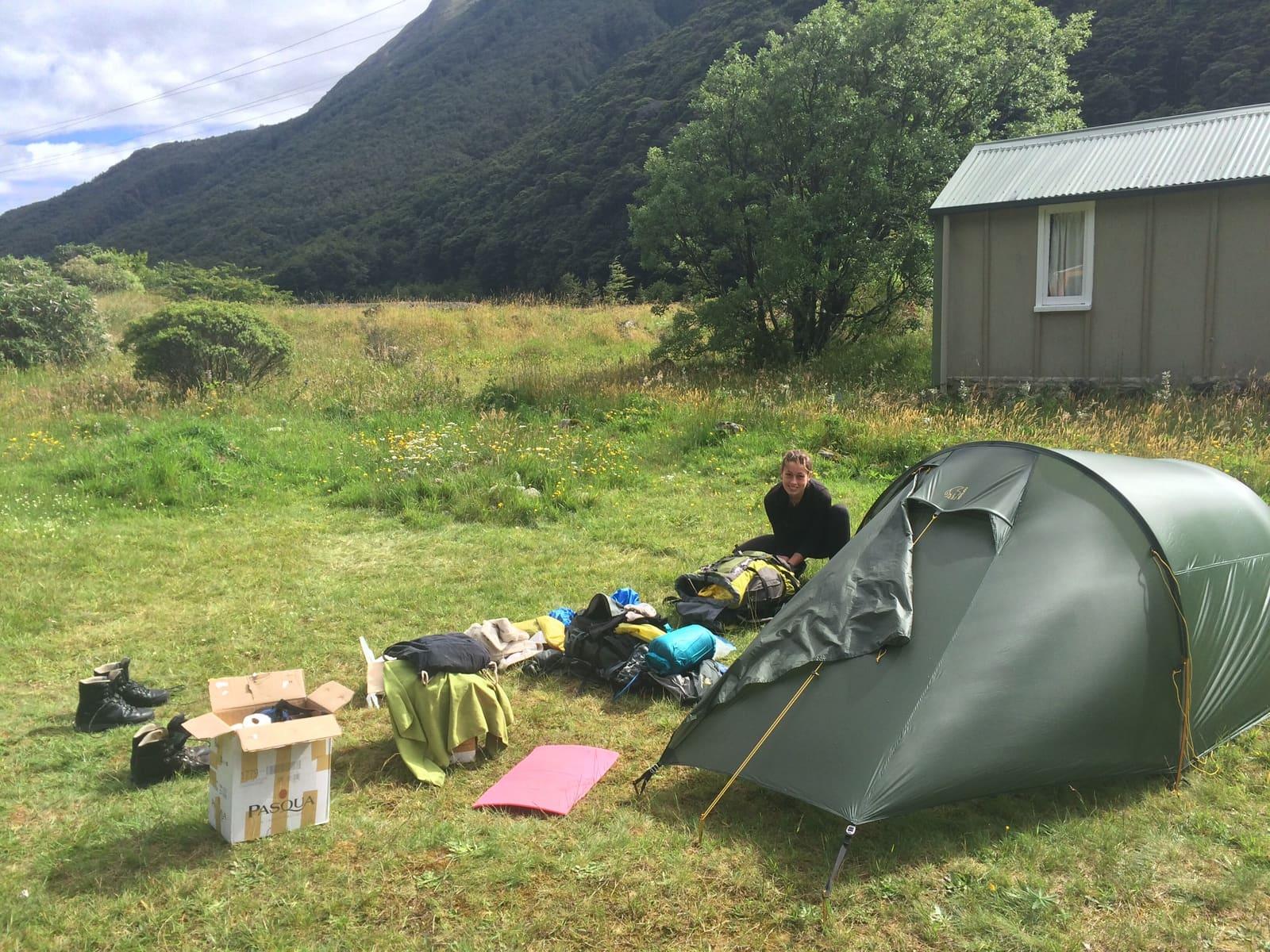 Zelten auf dem Te Araroa Neuseeland