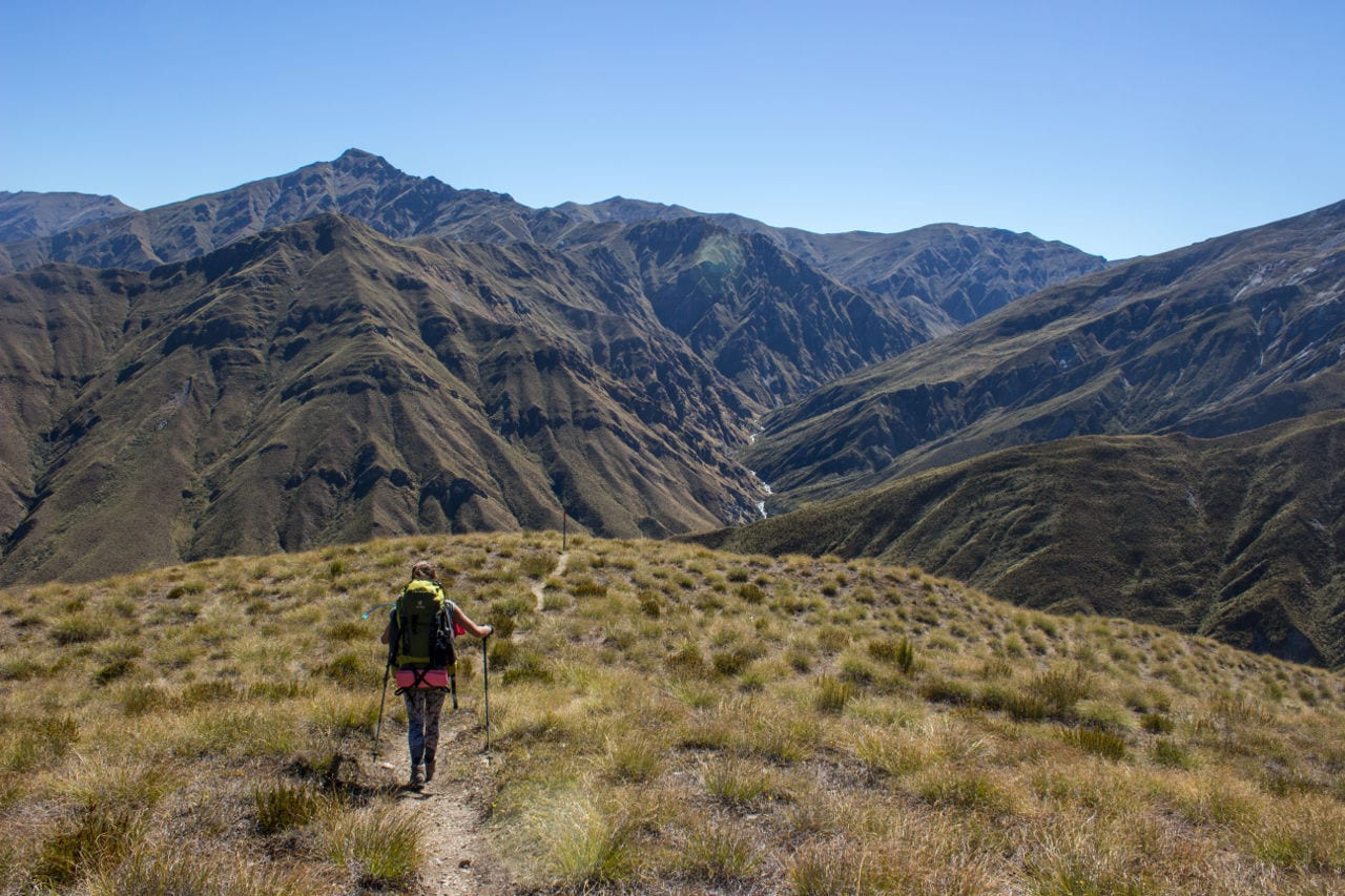 Wanderwege Neuseeland Motatapu Track