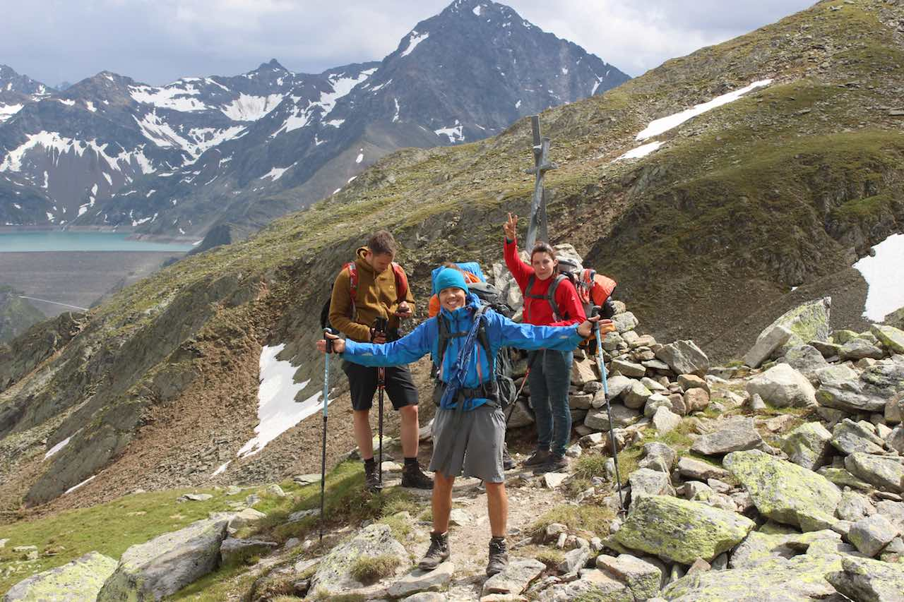 Abstieg Gruppenfoto Alpen