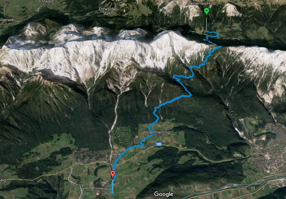 L1 Alpenüberquerung Tillfußalm bis Obermieming