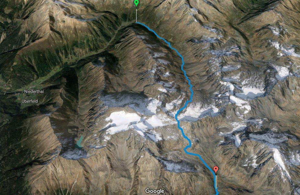L1 Alpenüberquerung Schweinfurter Hütte zur Winnebachseehütte