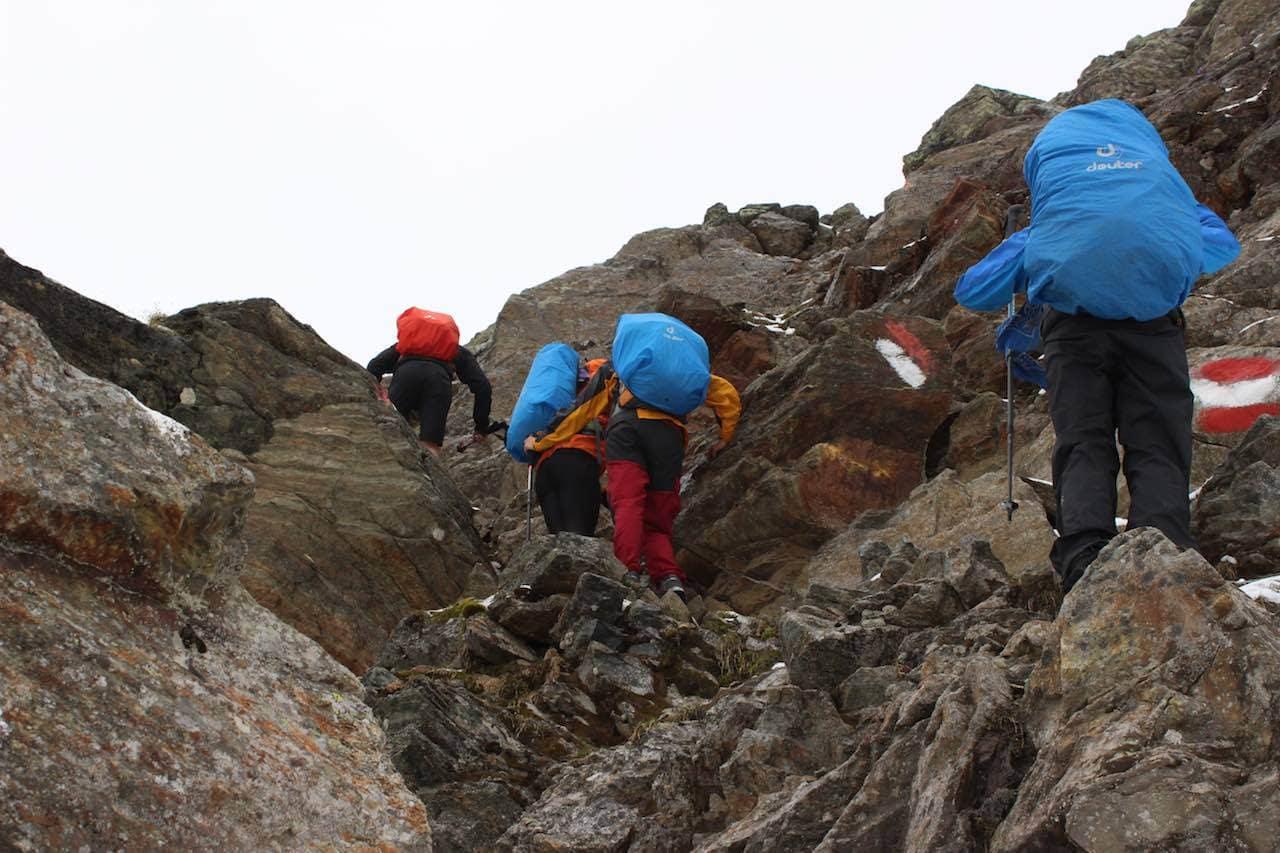 Felskletterei Alpen