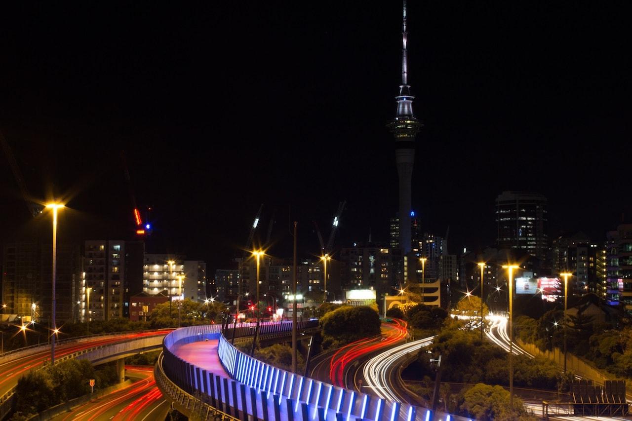 Fotospots Neuseeland Skyline Auckland