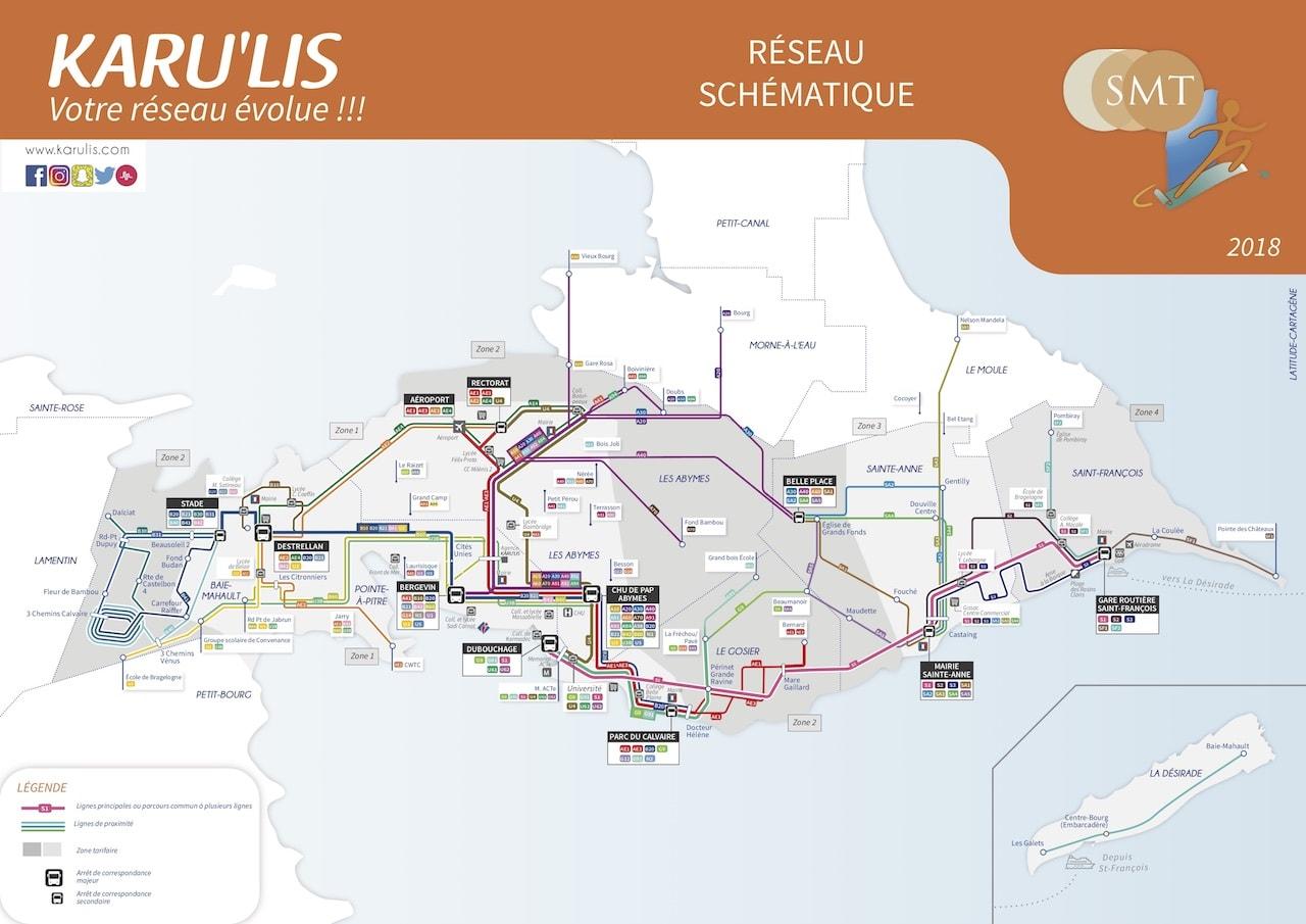 Guadeloupe Busverbindungen