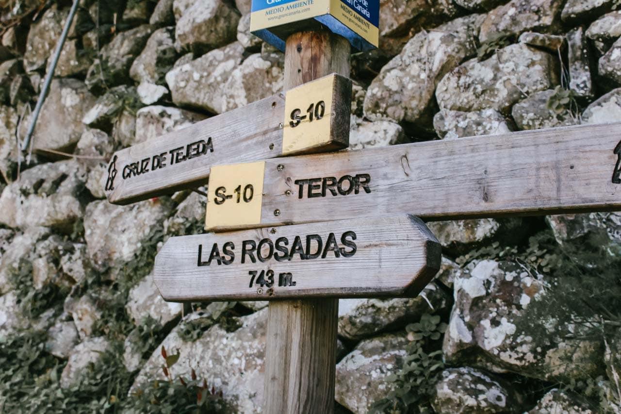 Wandern / Fernwandern Gran Canaria Wegweiser