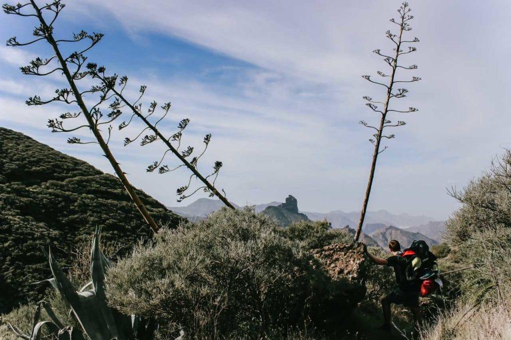 Aussicht auf Roque Nublo Weiterwandern Gran Canaria
