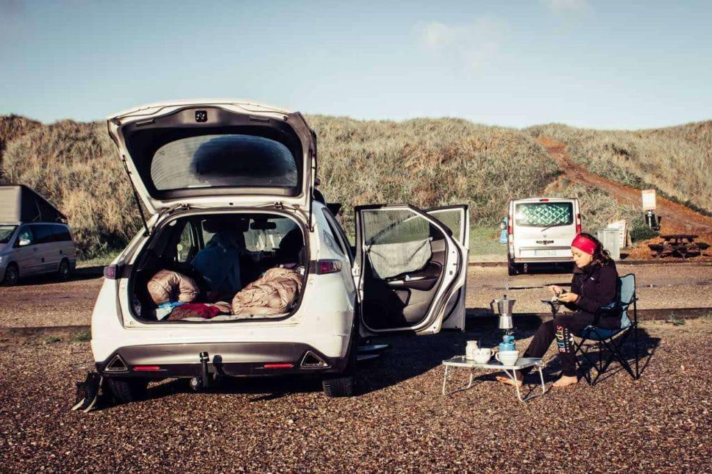 Minicamper in Hvide Sande Dänemark