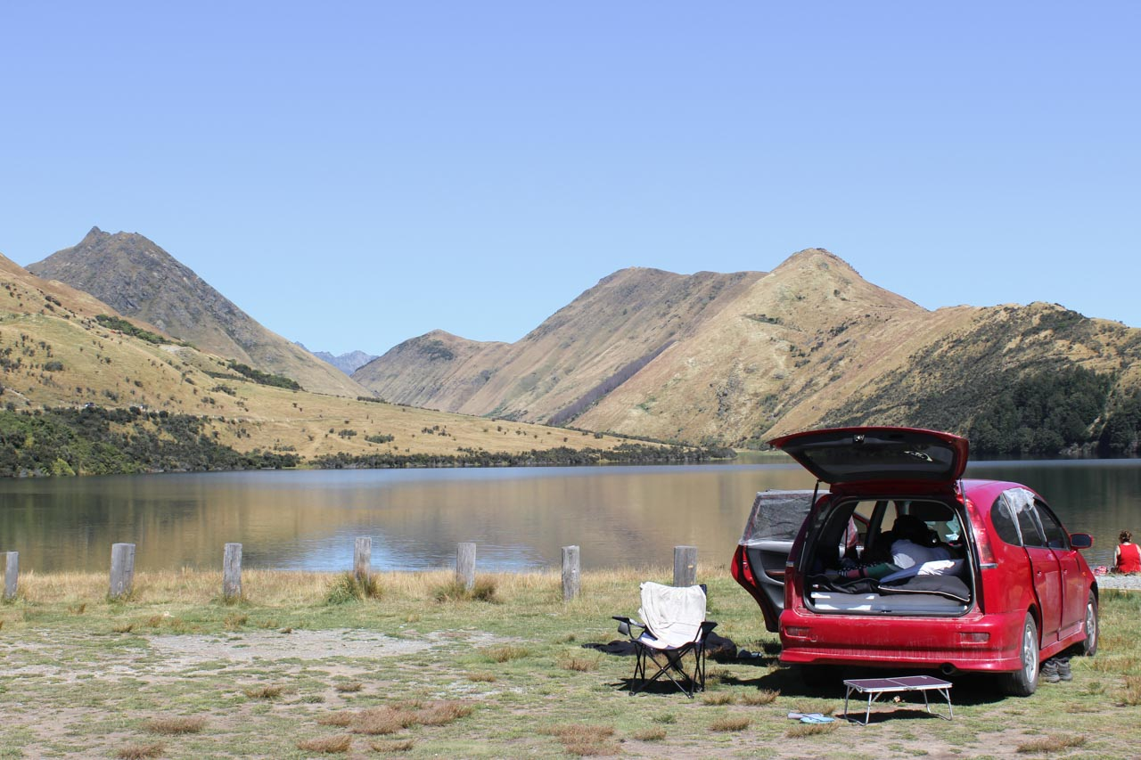 Mike Lake Campsite Neuseeland
