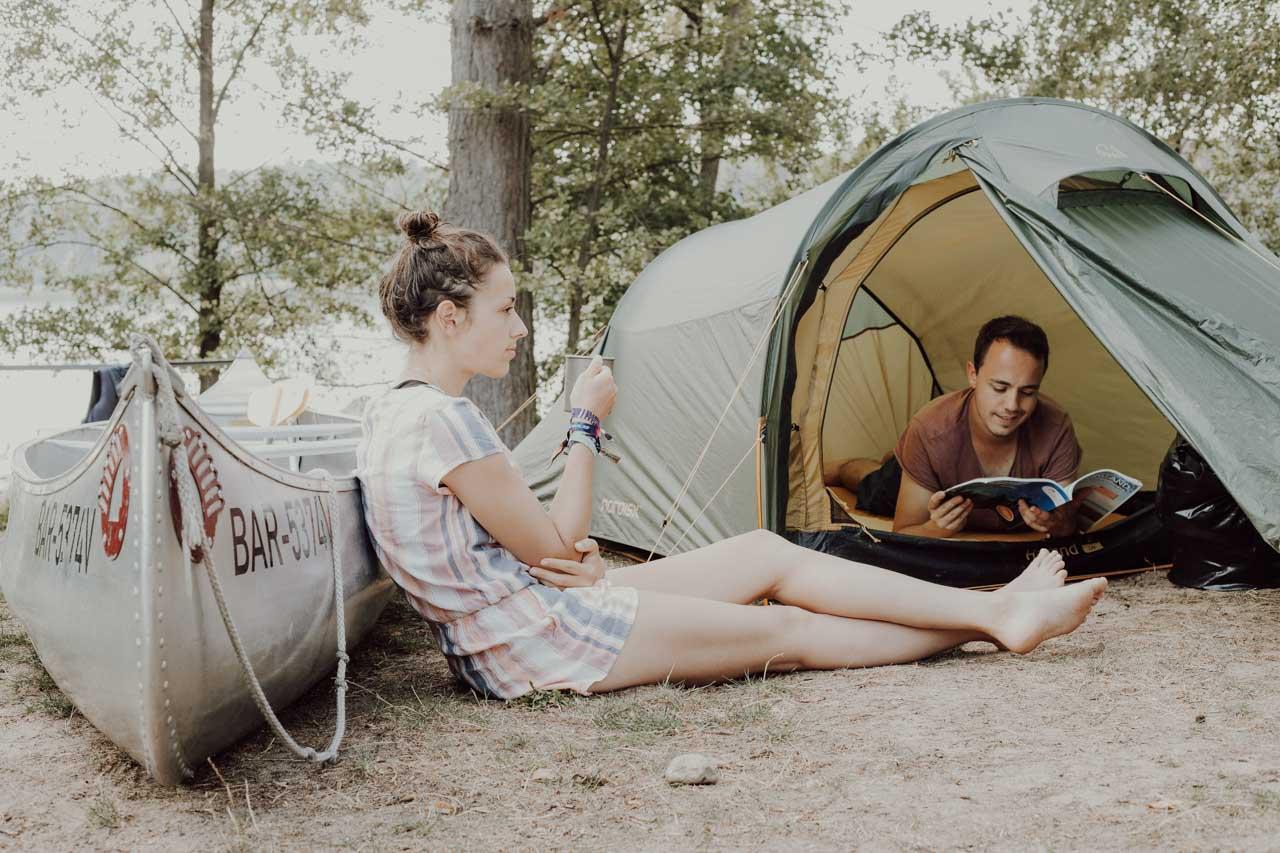 Entspannen in der Natur am Campingplatz in Mecklenburgischer Seenplatte
