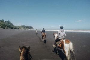 Ausreiten am Strand Neuseeland