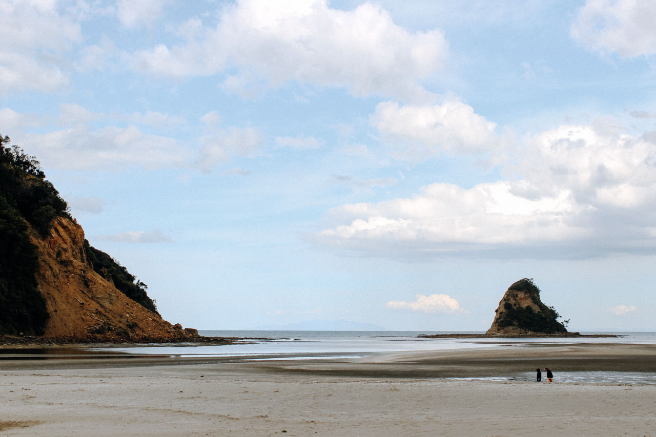 Neuseeland Strand menschenleer bei Auckland