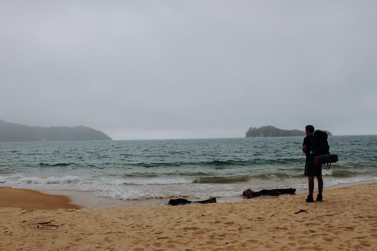 Abel Tasman bei schlechtem Wetter