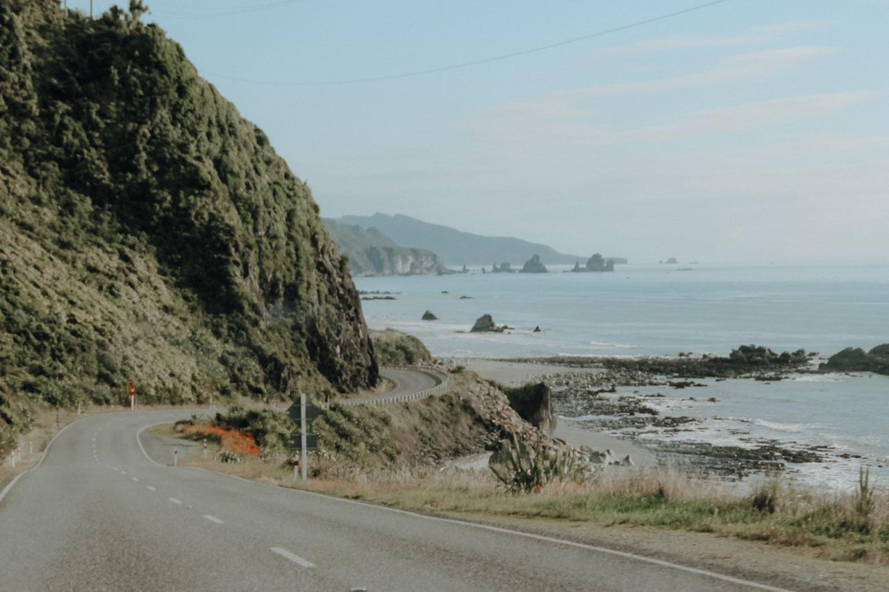 West Coast Neuseeland Roadtrip Straße