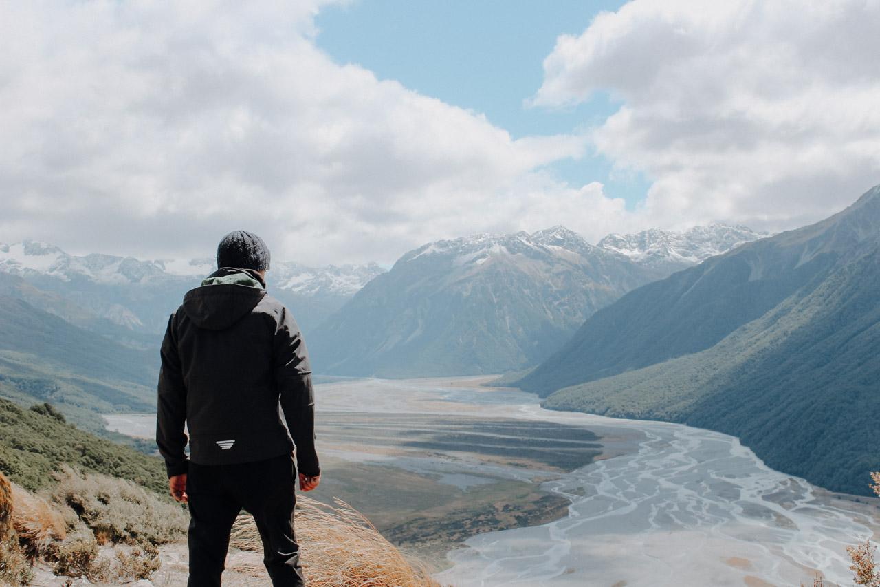 Aussicht Bealey Spur Track Neuseeland Arthurs Pass
