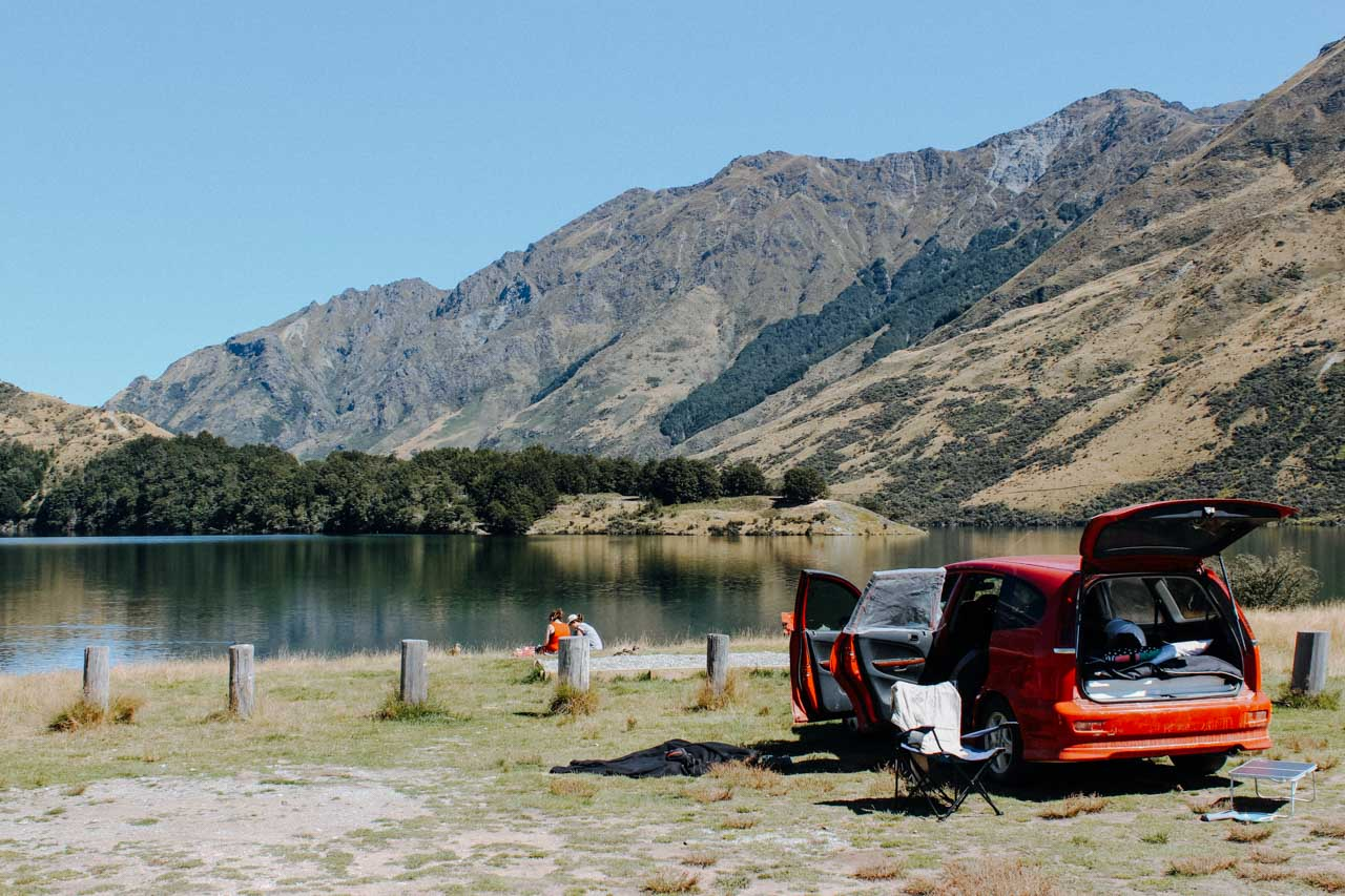 Moke Lake Campsite Roadtrip Neuseeland