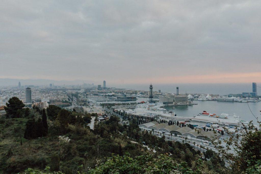 Aussicht Monjuic Barcelona