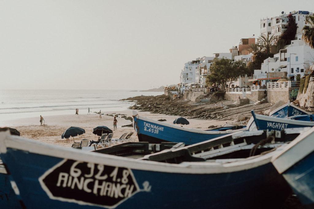 Taghazout Hafen Fischerboot