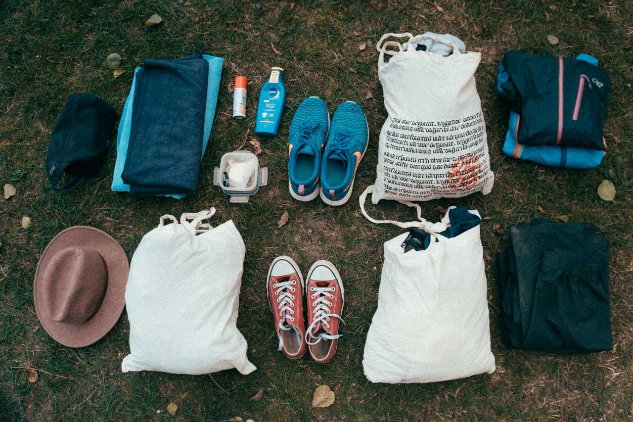 Kleidungs - Packliste für Kanutouren