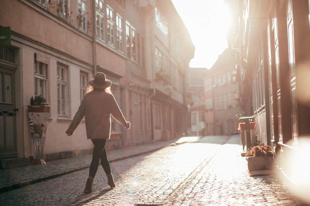Erfurt Sonnenuntergang