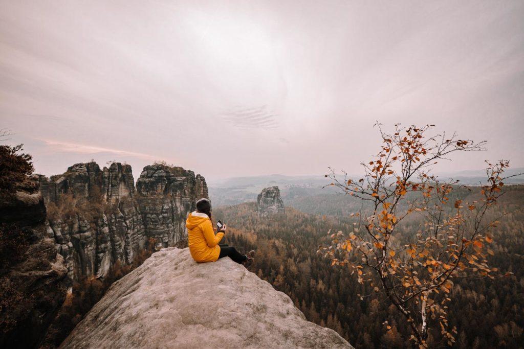 Ausblick von den Schrammsteinen