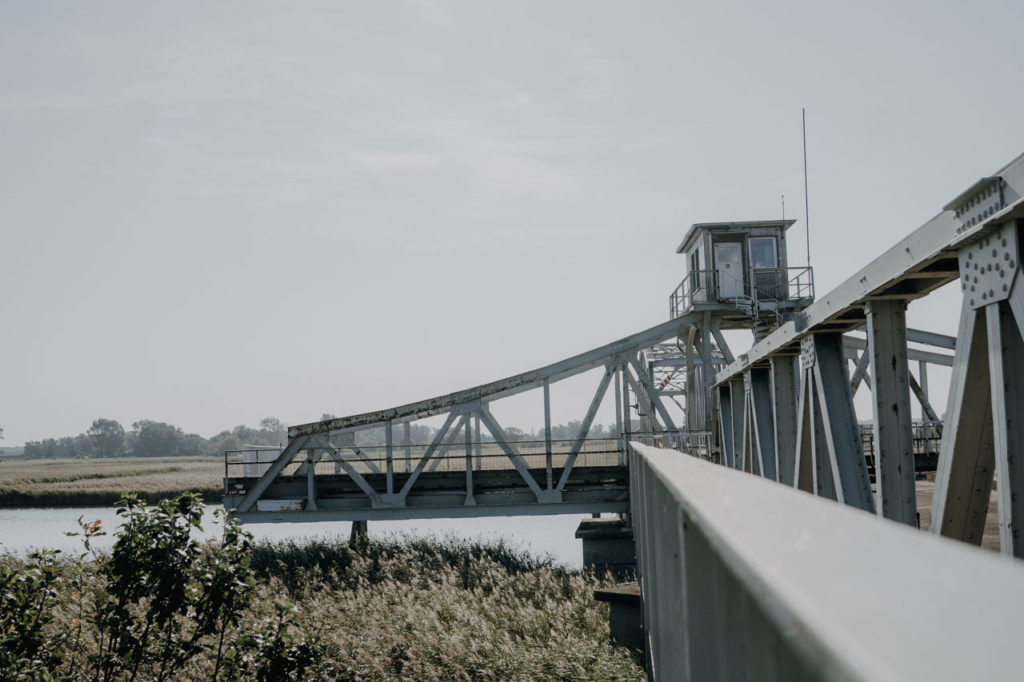 Geöffnete Meiningenbrücke