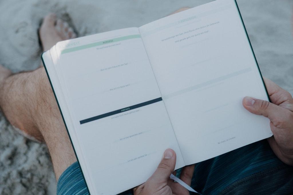 Aufteilung des Journals in Impulsfragen