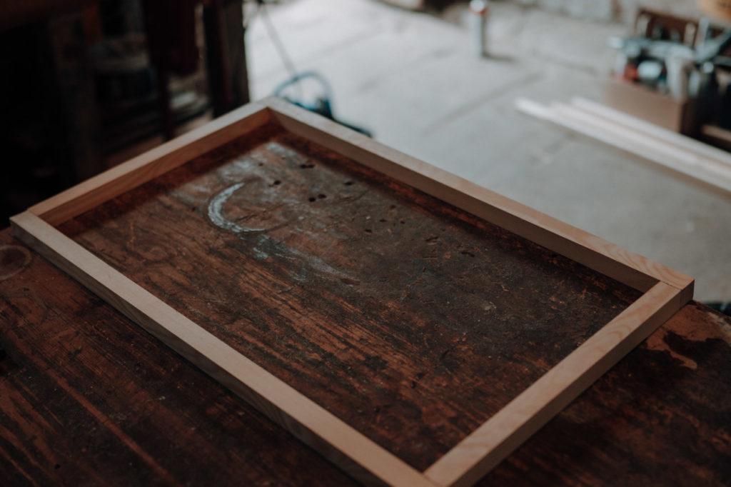 Holzrahmenkonstruktion für Seitenfenster