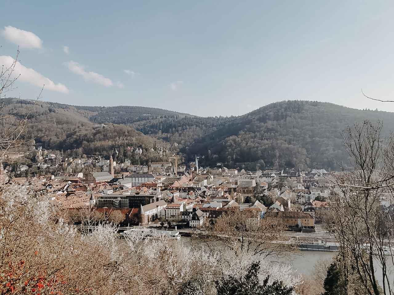 Blick auf die Altstadt am Fluss