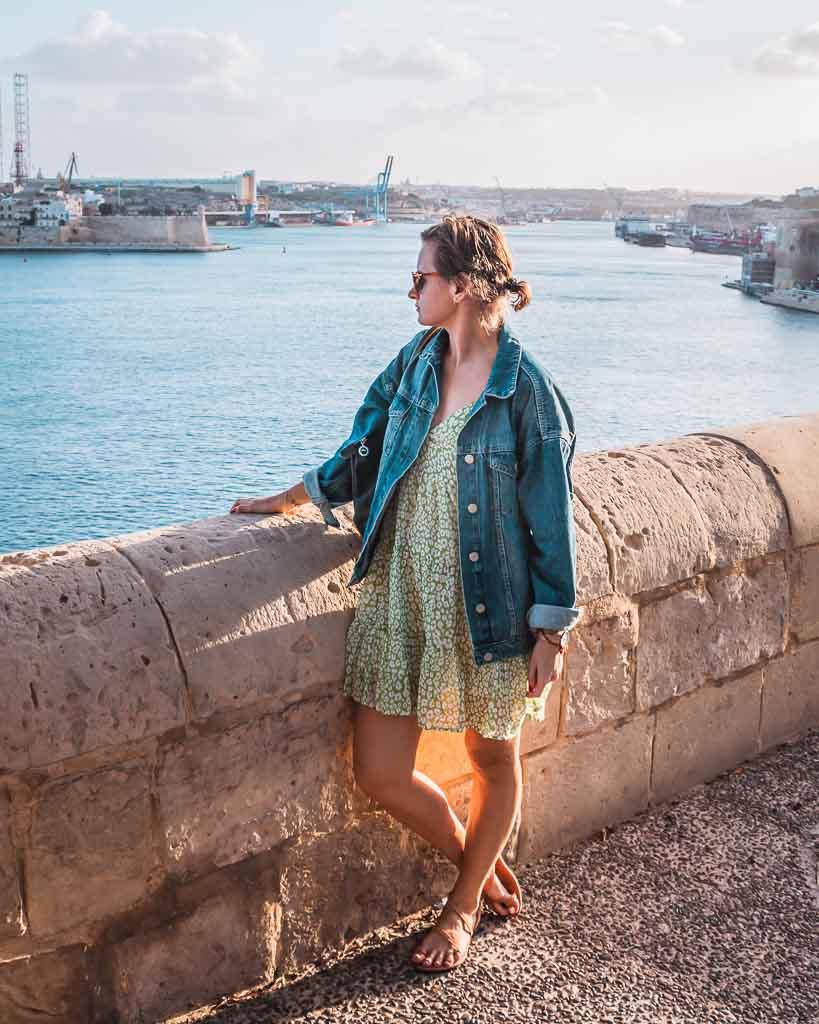 Spaziergang im großen Hafen von Valletta