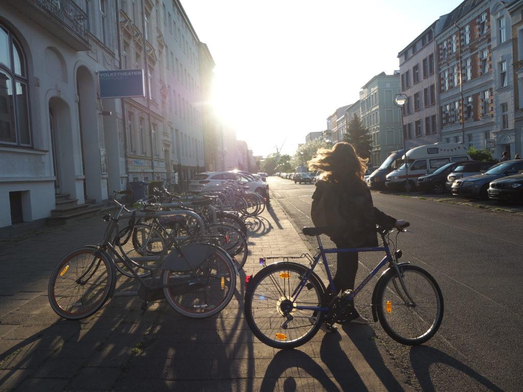 Mit dem Fahrrad unterwegs in der KTV