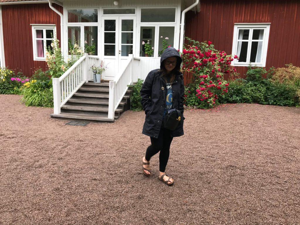 Wohnen im roten Schwedenhaus